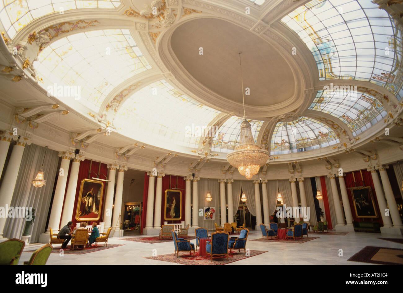 Saloon Royal Hotel Negresco Nice France - Stock Image