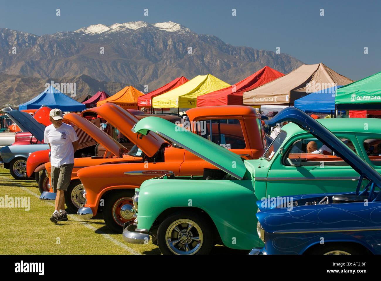 Custom American antique Hot Rod muscle car classic car show Stock ...