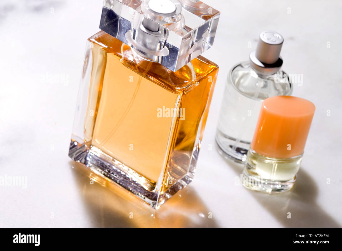 perfume bottles - Stock Image