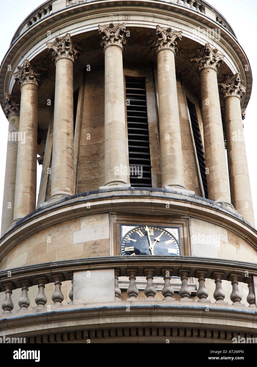 Detail of All Souls Church Langham Place London England Stock Photo