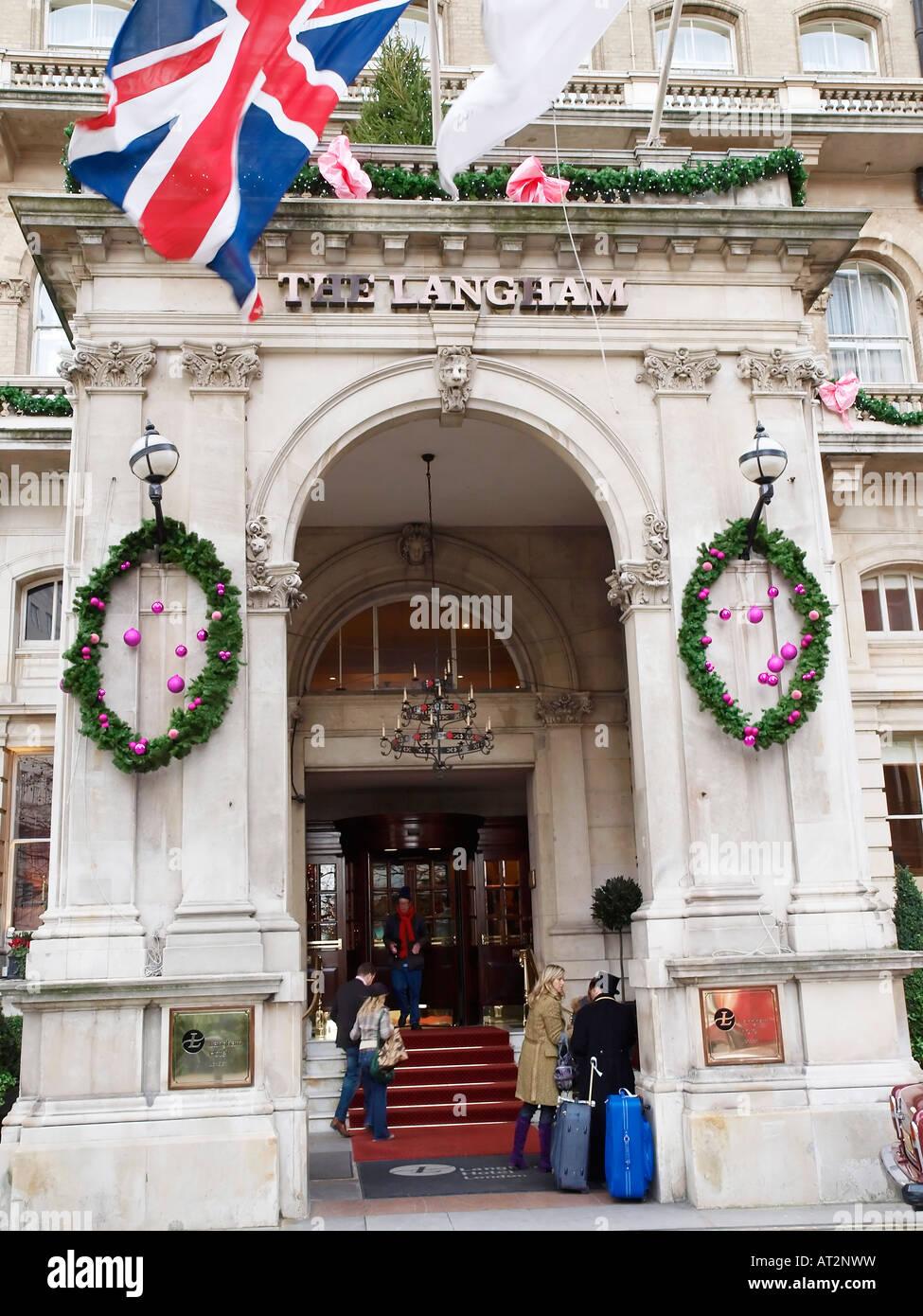 Langham Hotel Portland Place London W1 England - Stock Image