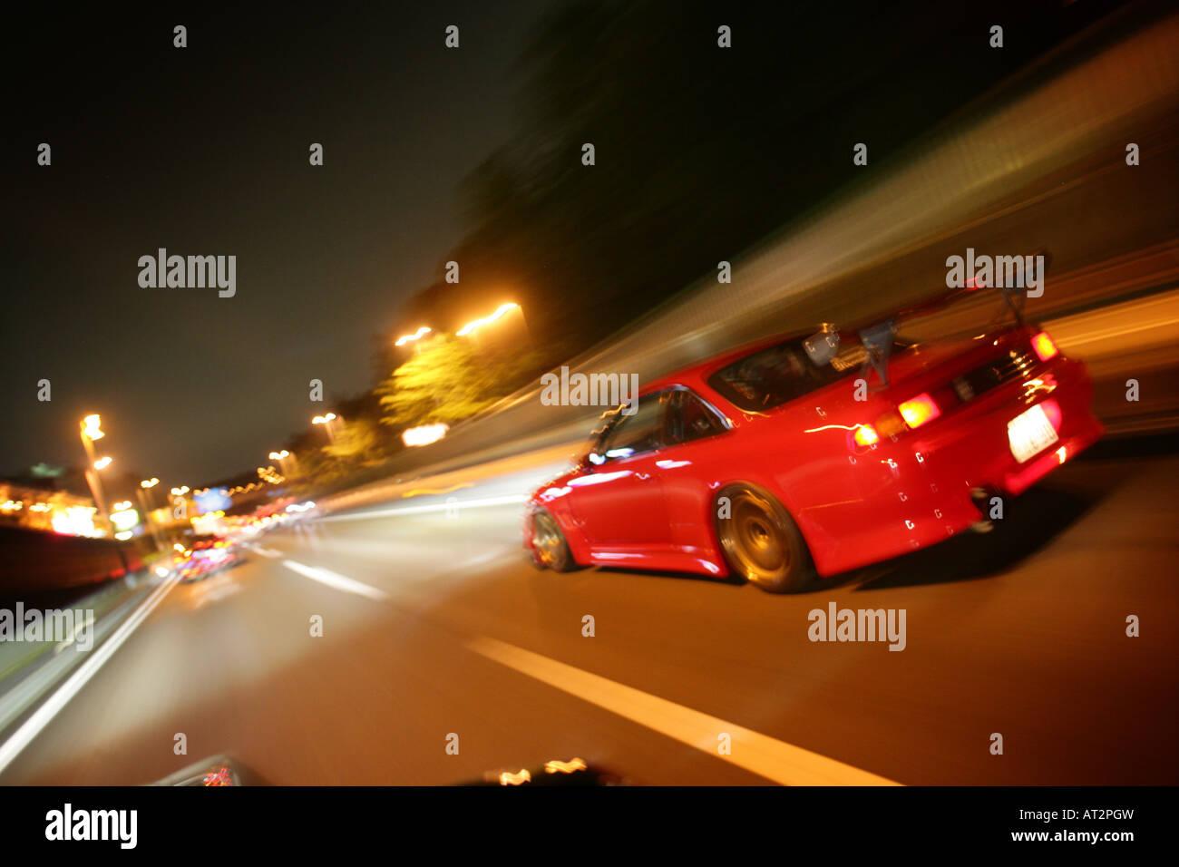 Street Racing In Tokyo Japan Stock Photo 16183080 Alamy