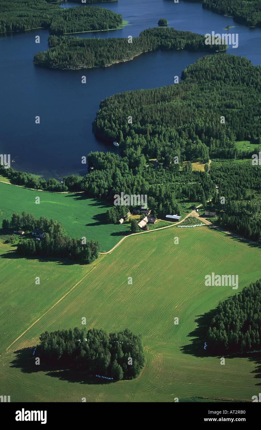 Lakes of Kuopio Finland Aerial view - Stock Image