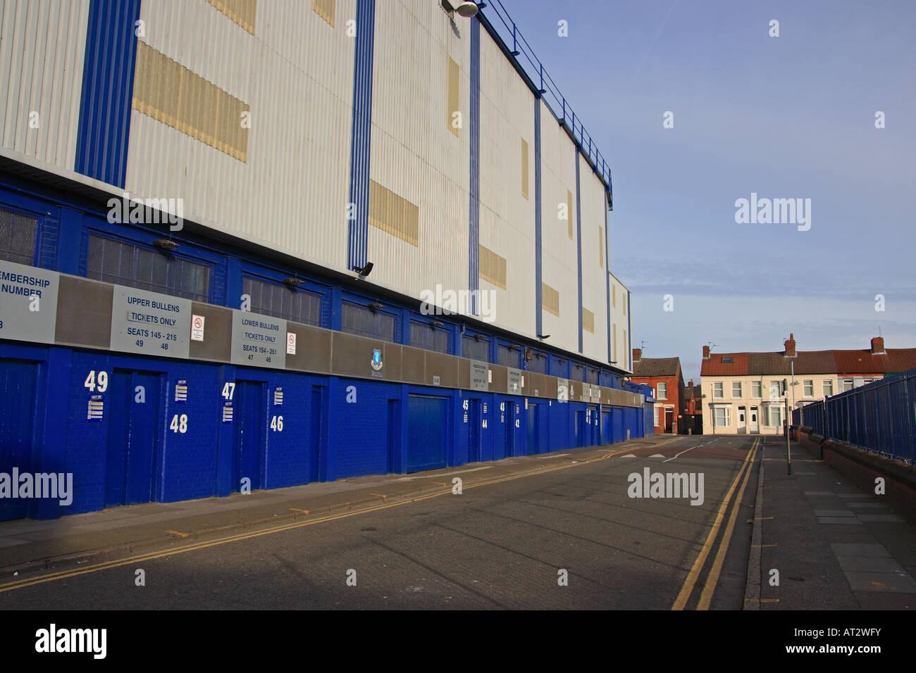 Goodison Park, the home of Everton Football Club Stock Photo