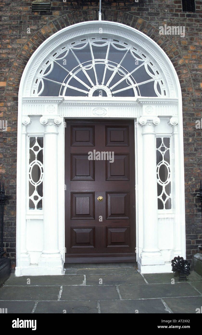 The famous, much photographed, Georgian Doors of Merrion Square  in Dublin ,Southern Ireland,Eire - Stock Image