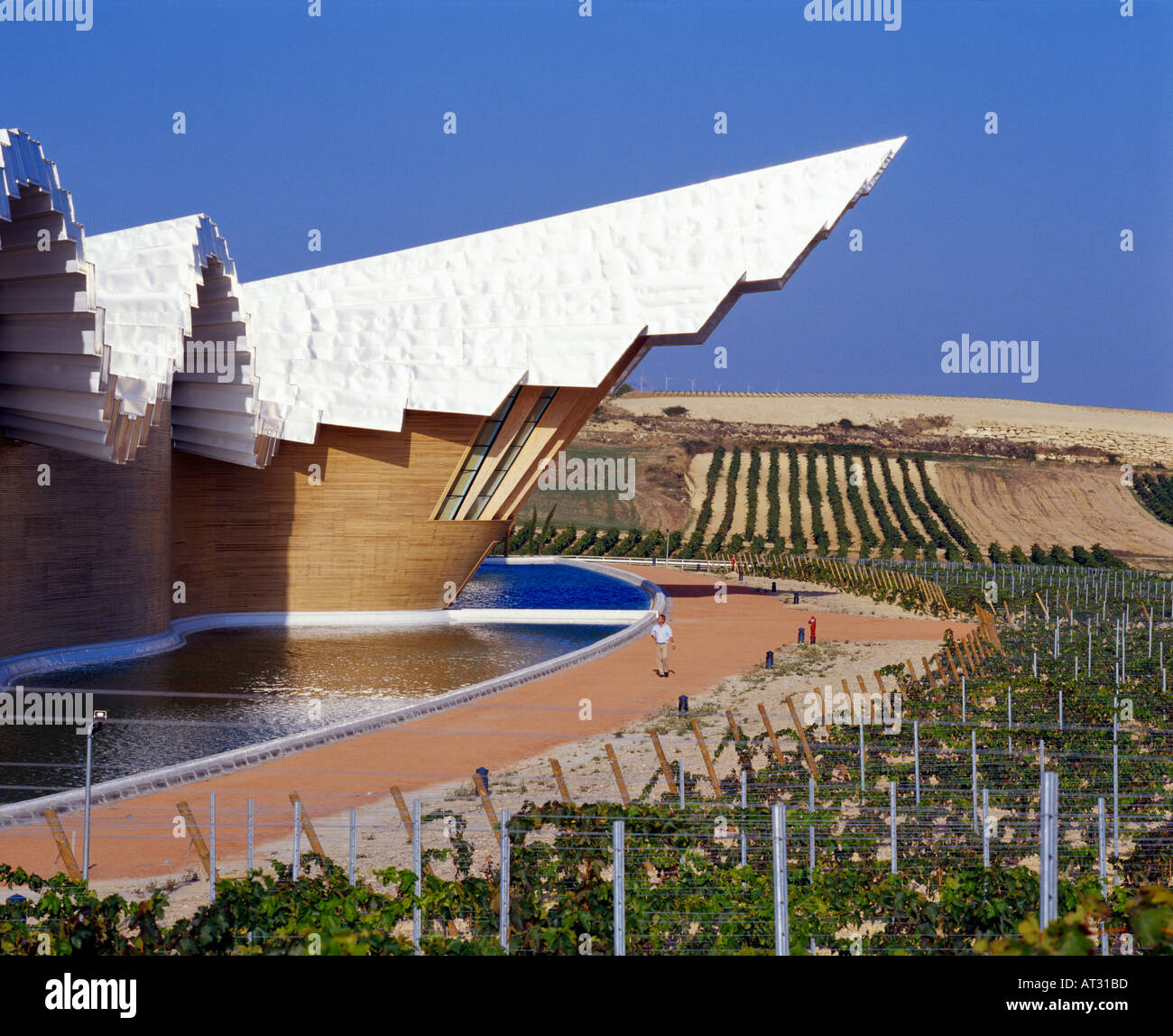 Bodegas Ysios Laguardia Alava Spain Rioja Alavesa Stock Photo