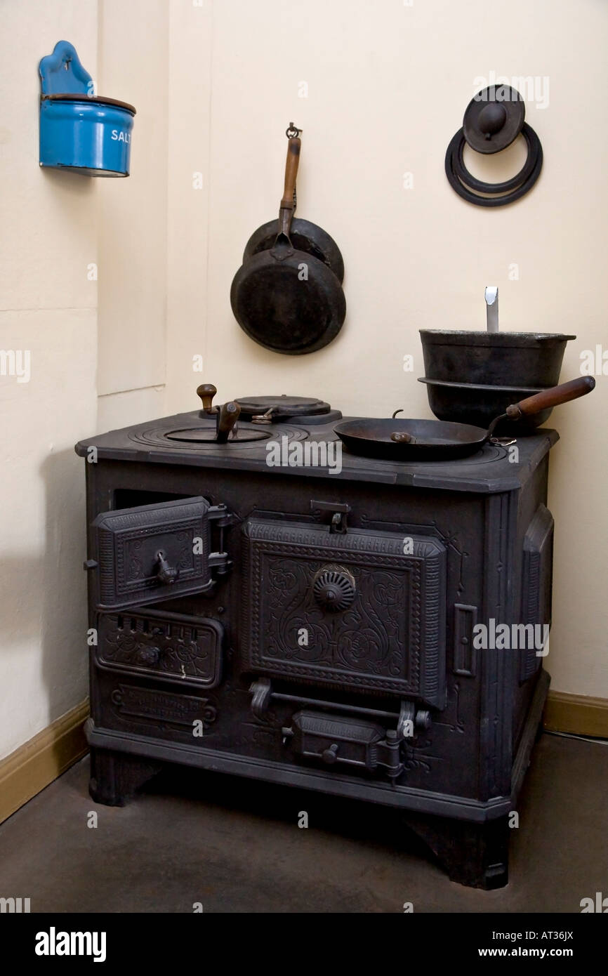 Old kitchen range - Stock Image