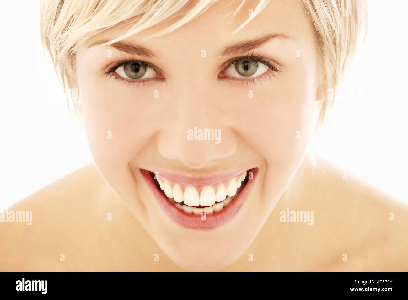 A portrait of young woman, smiling - Stock Image