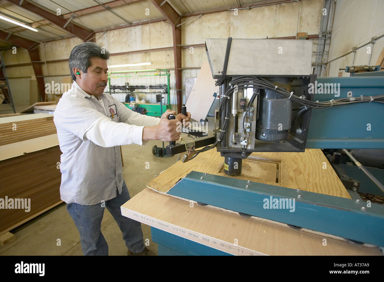 Man working on door manufacturing  sc 1 st  Alamy & Man working on door manufacturing Stock Photo: 1652648 - Alamy