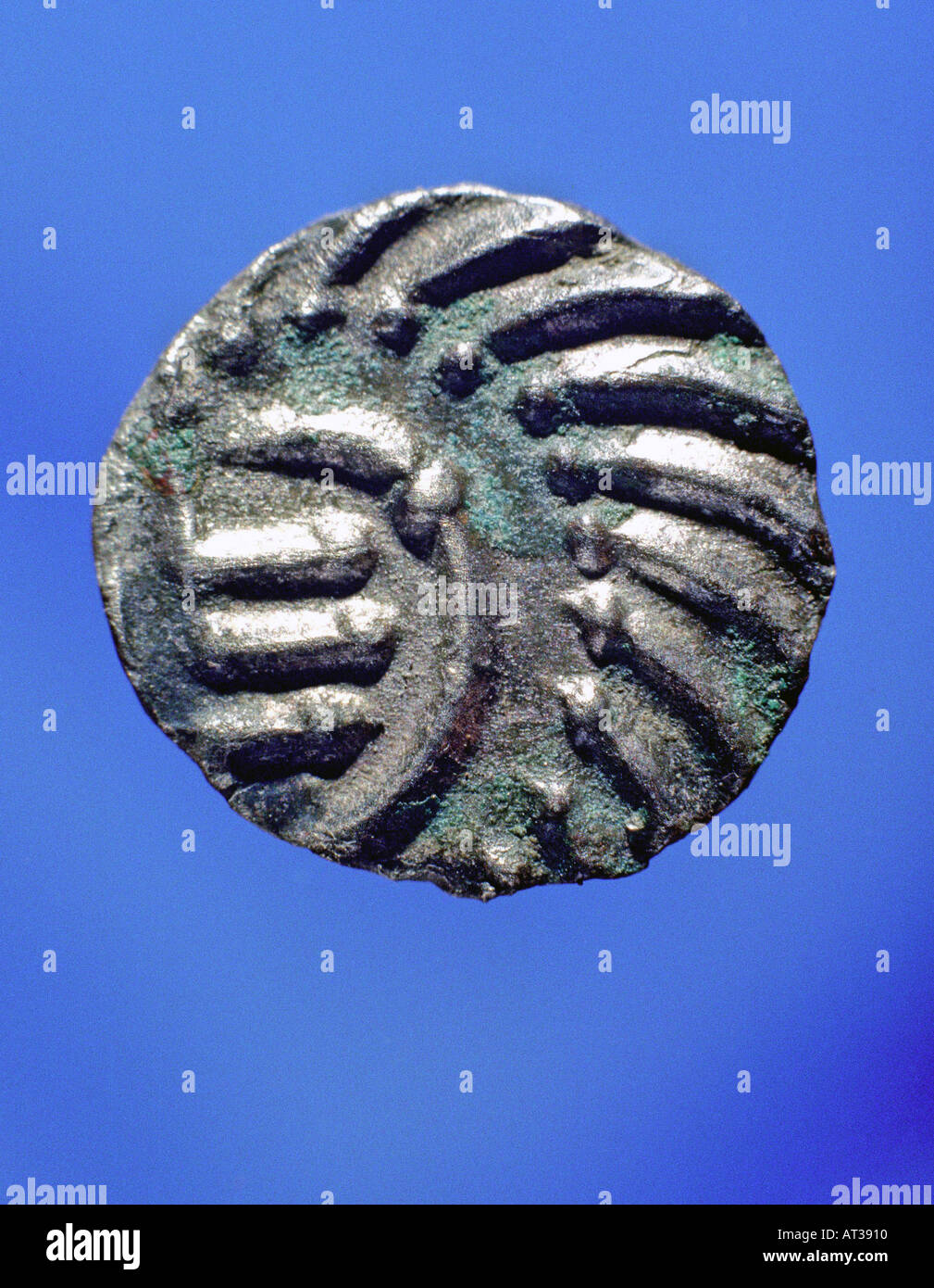 Sceattas Anglo Saxon coinage Silver - Stock Image