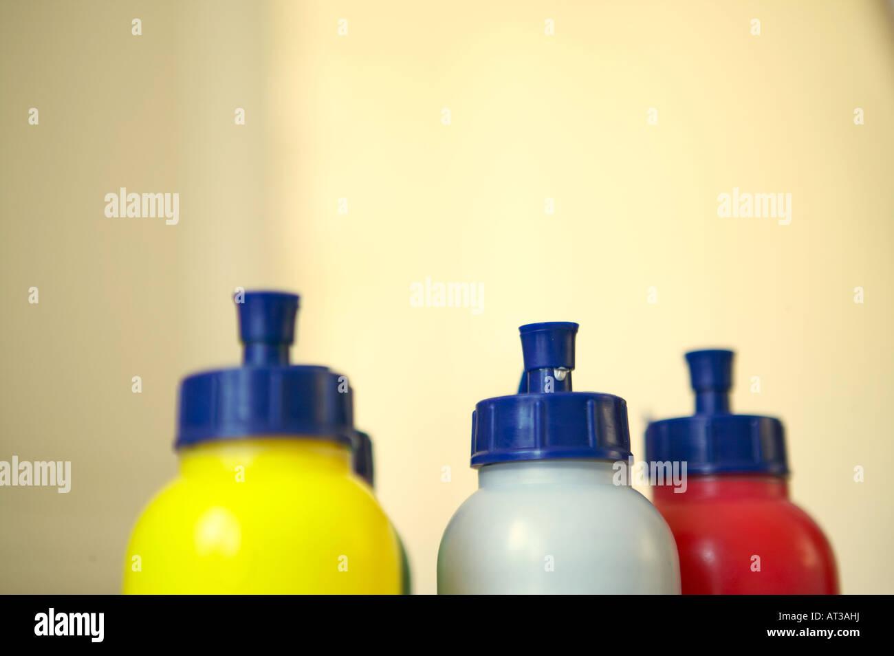 Bottles of paint - Stock Image