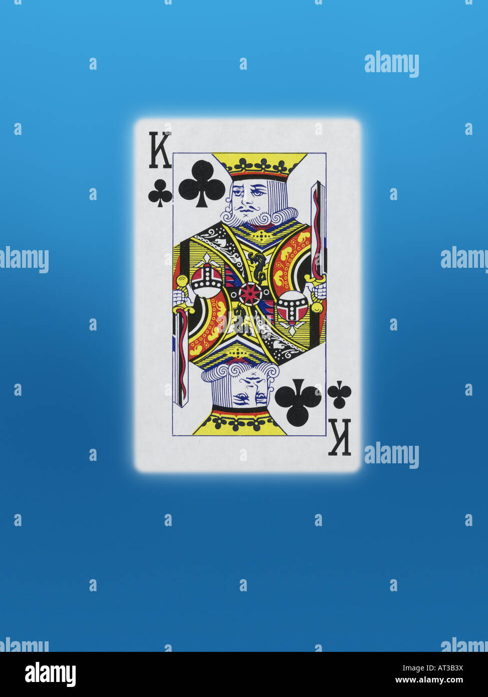 A king of clubs playing card - Stock Image