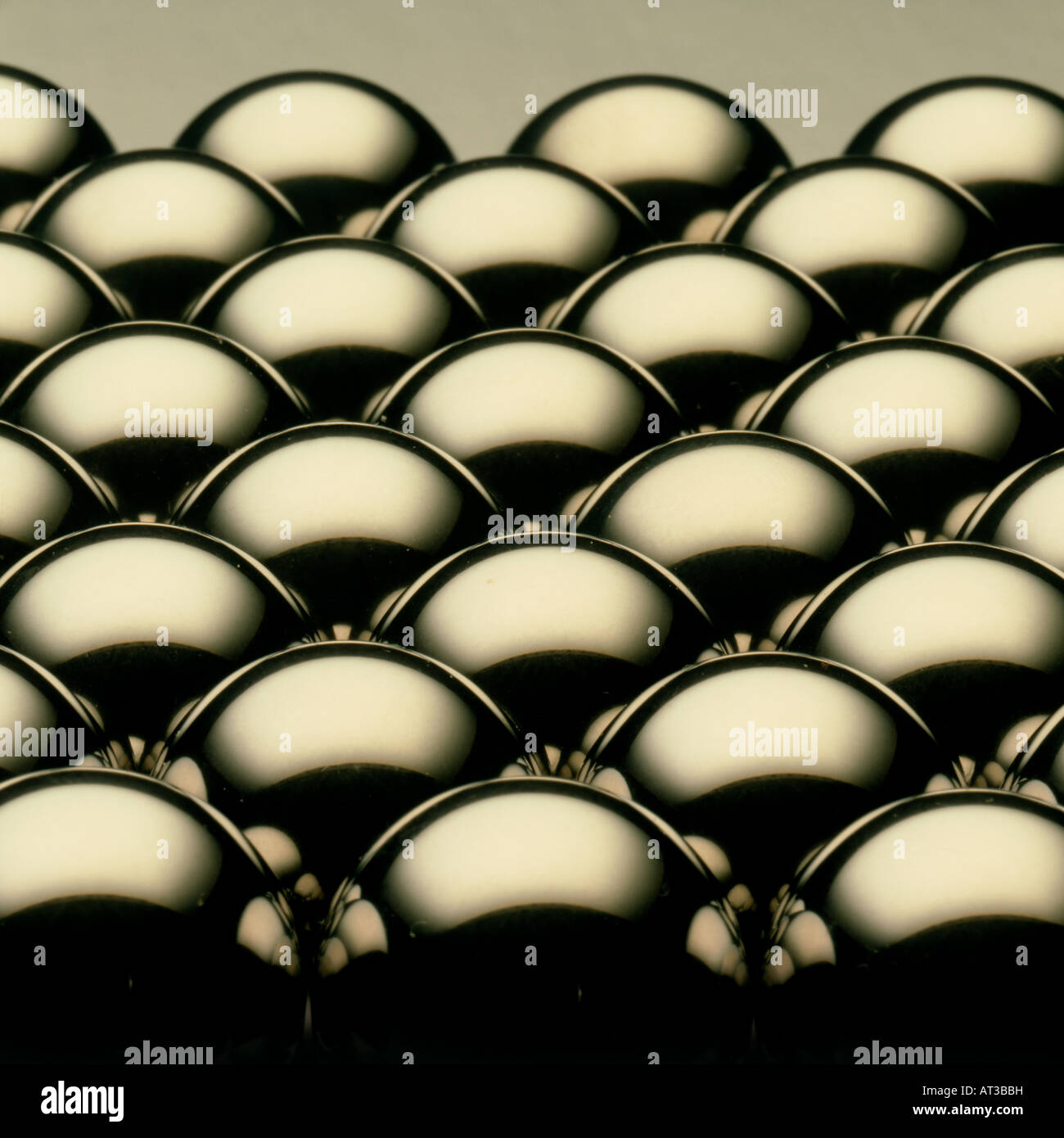 Metallic balls - Stock Image
