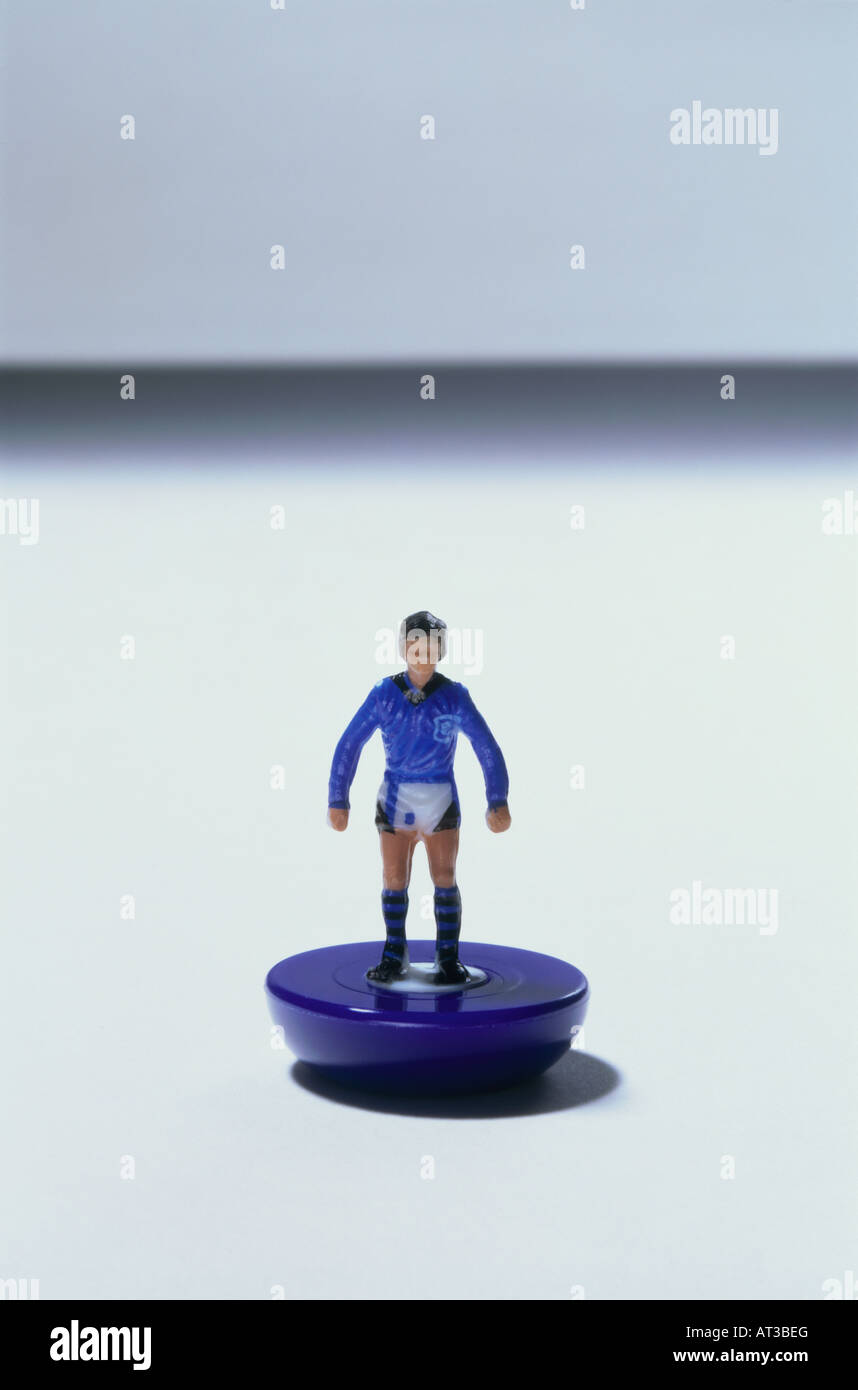 A plastic toy footballer - Stock Image