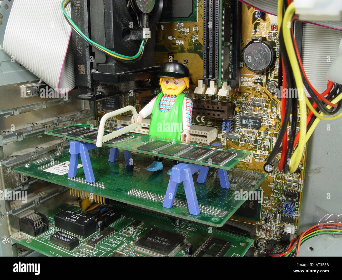 Symbol Picture For Hardware Upgrade Memory Expansion Etc Stock Photo Electronic Circuit Symbols