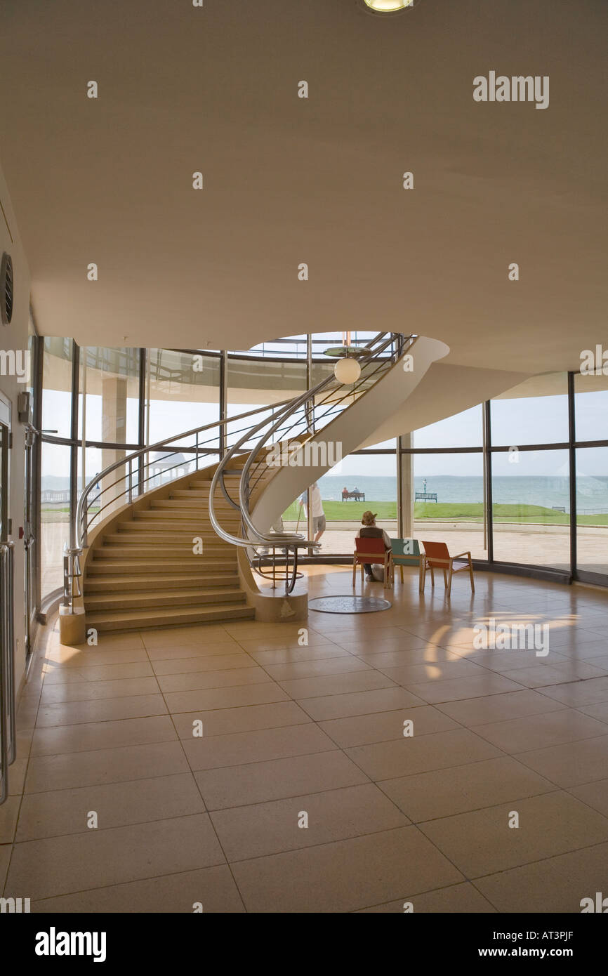 Interior view of staircase, Bexhill Pavilion, UK - Stock Image