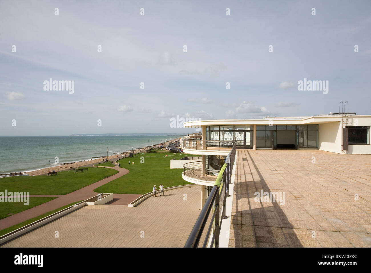 Exterior view from roof, Bexhill Pavilion, UK - Stock Image
