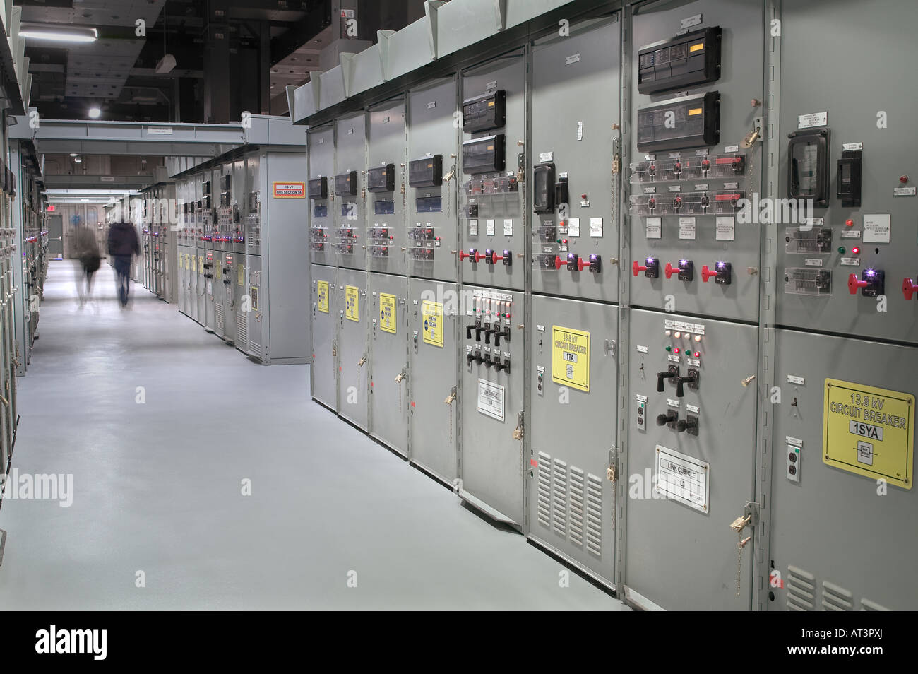 Electricity Power Plant SubStation Control Panel Stock Photo ...