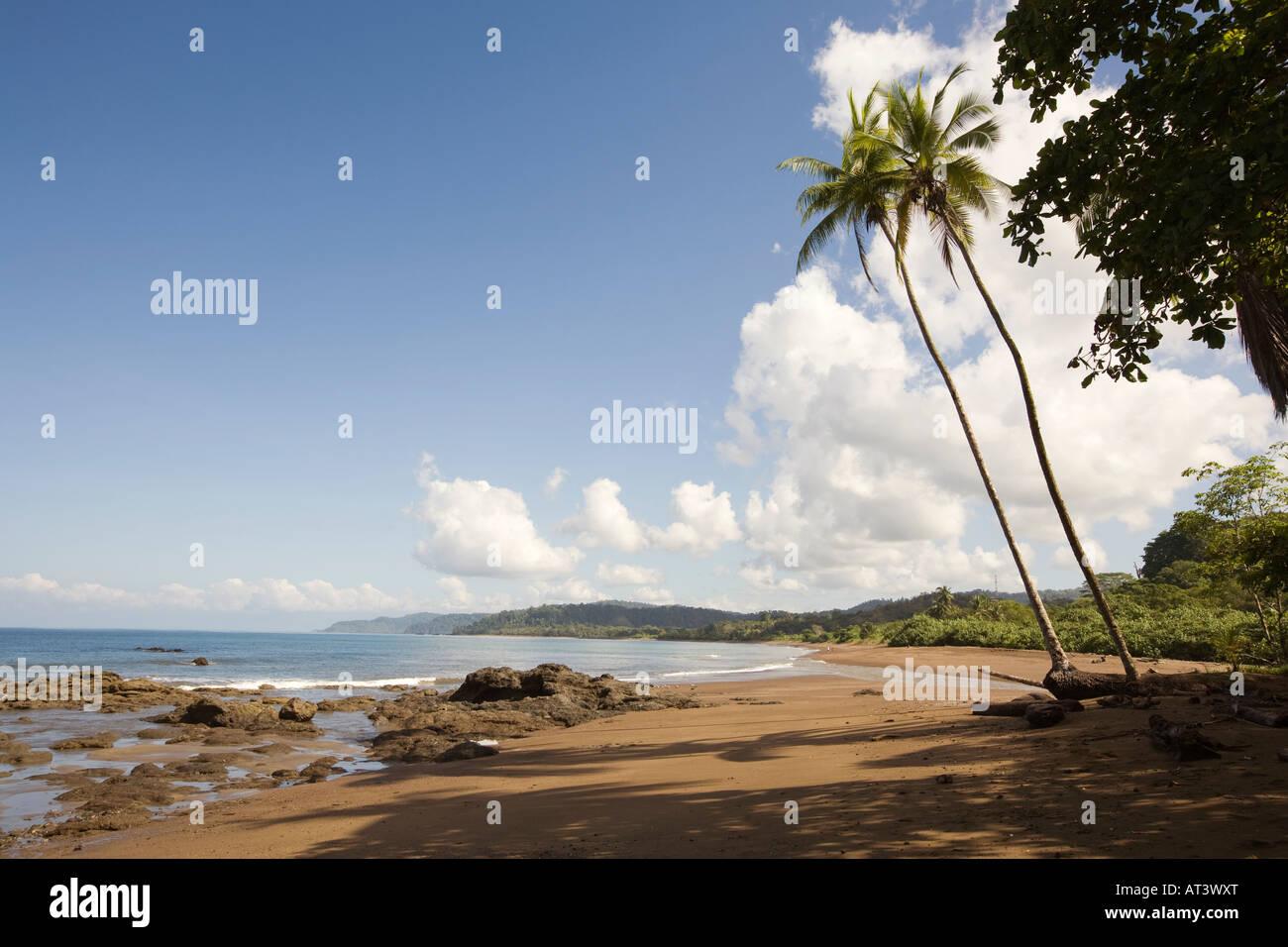 Costa Rica Osa Peninsula Agujitas beach Drake River entering Drake Bay - Stock Image