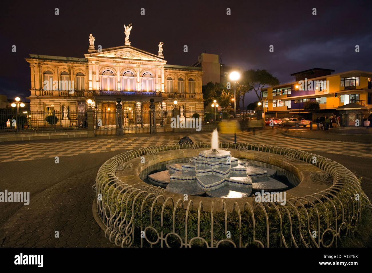 Stock Photo Costa Rica San Jose Plaza De La Cultura Fountain In Front Of Teatro 16194145 on Neoclassical Architecture