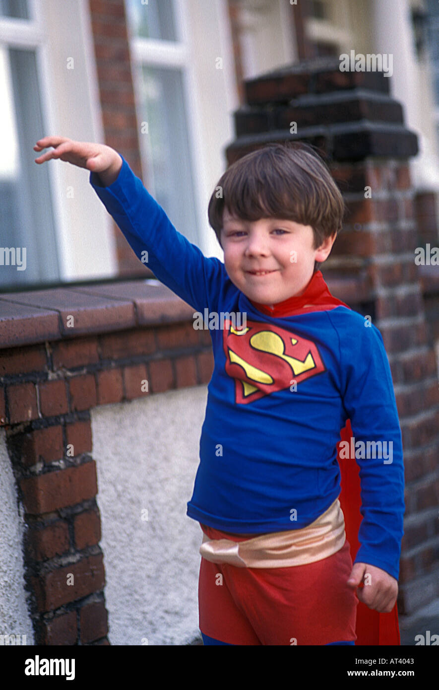 Three year old boy dressed in Superman outfit - Stock Image  sc 1 st  Alamy & Children Dressing Up Superman Stock Photos u0026 Children Dressing Up ...