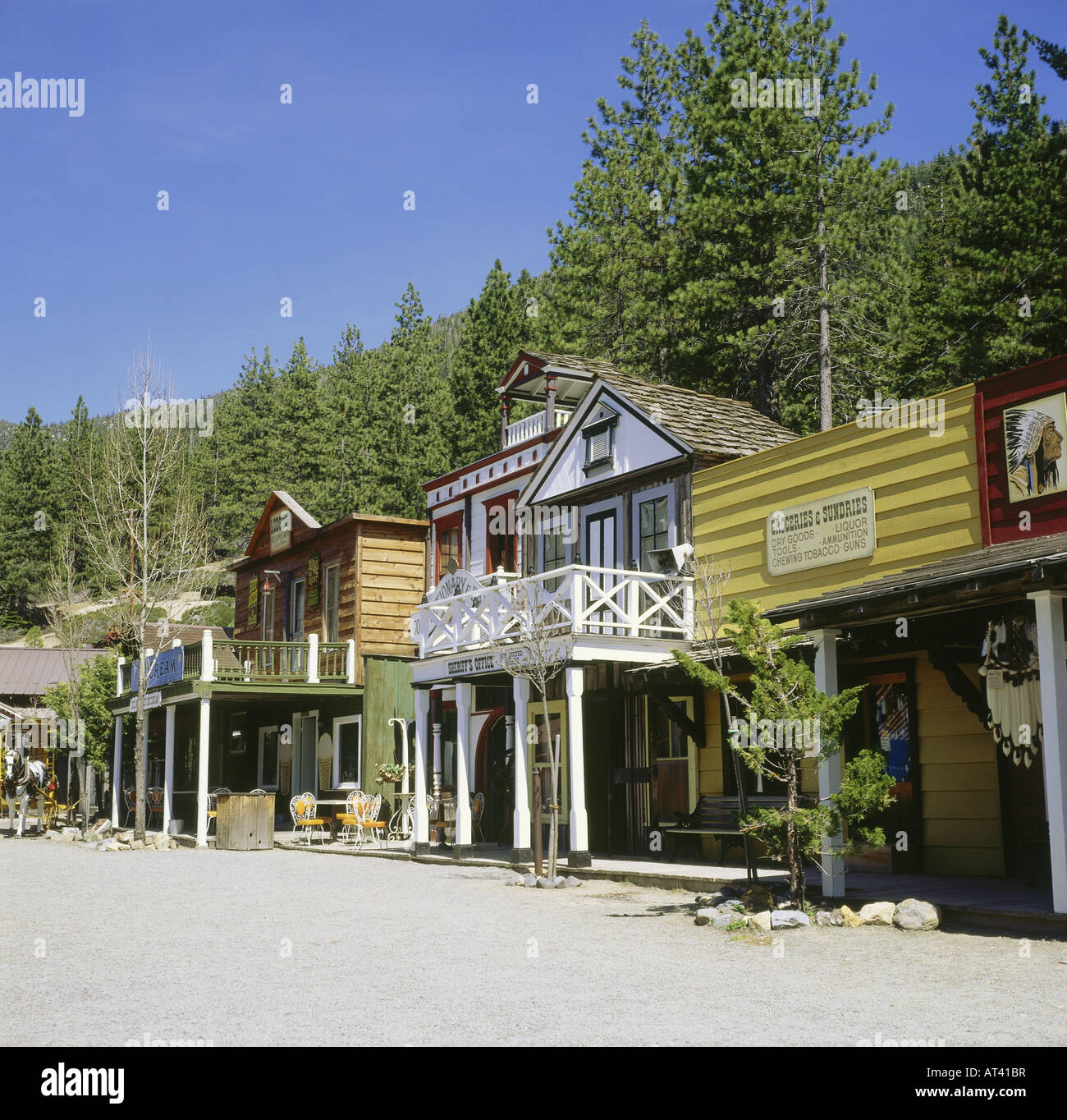 geography travel usa nevada incline village ponderosa ranch stock photo 16194778 alamy. Black Bedroom Furniture Sets. Home Design Ideas