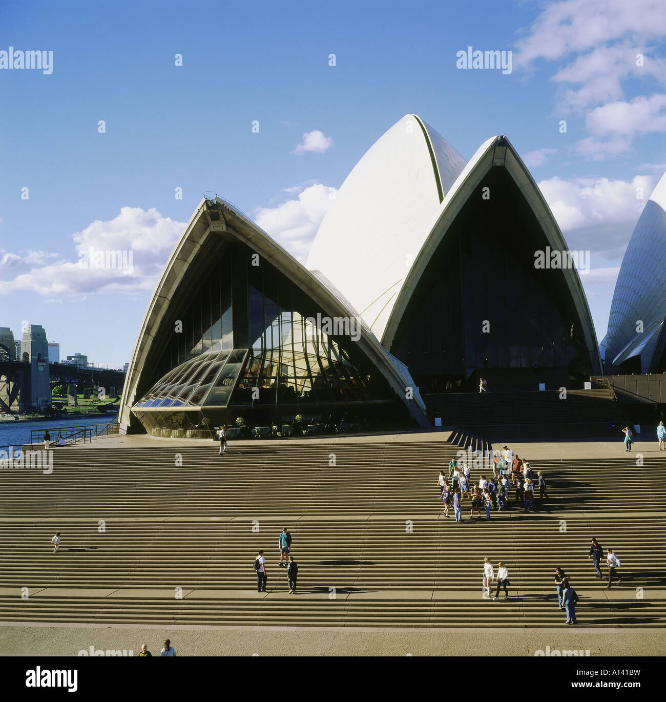 geography / travel, Australia, New South Wales, Sydney, opera, built 1957 - 1973, stairs by Jorn Utzon - Stock Image