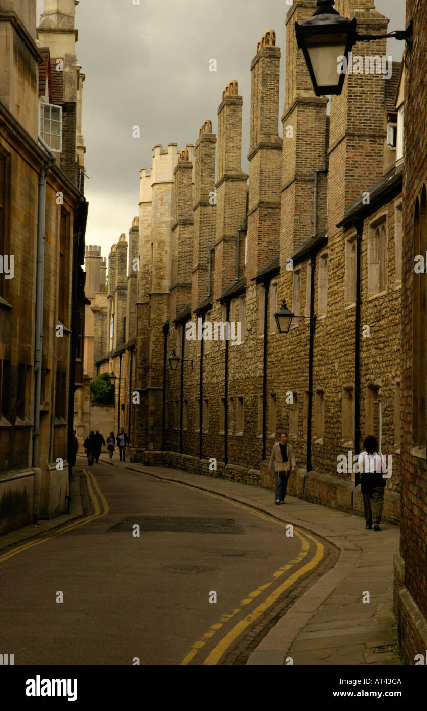 View of Trinity Lane and Trinity College Cambridge England - Stock Image