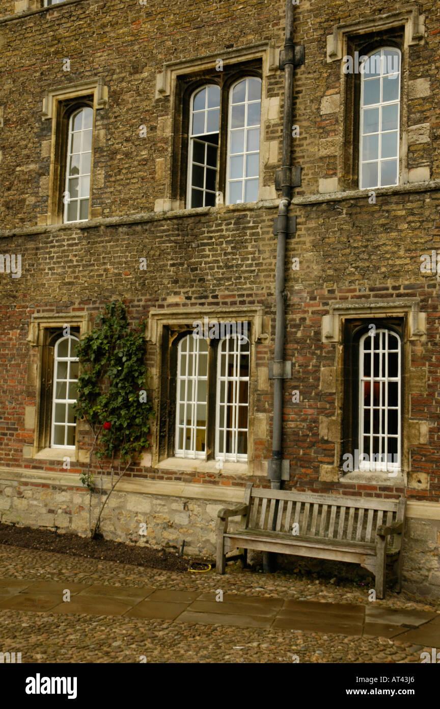 Jesus College Cambridge England - Stock Image