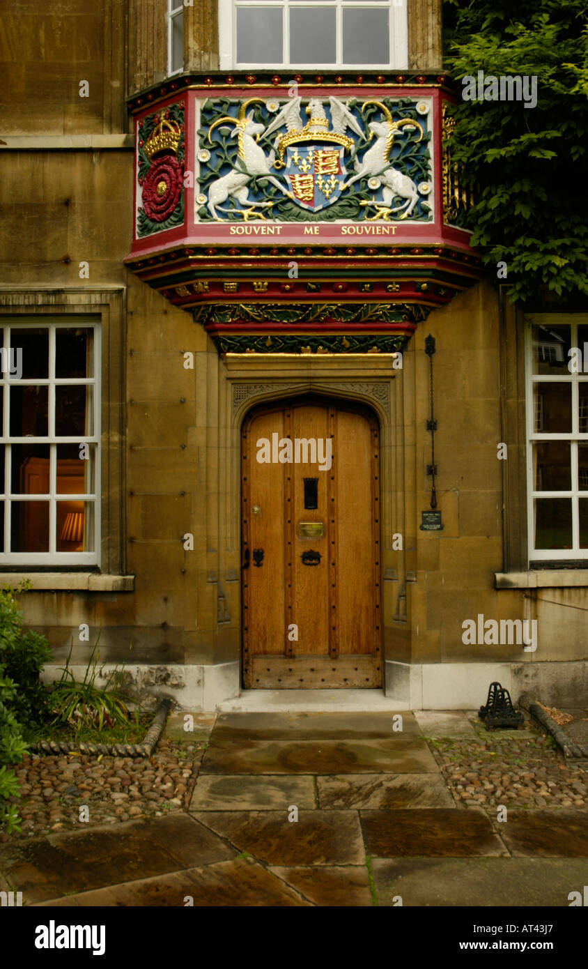 The Master's Lodge in the First Court Christ's College Cambridge England - Stock Image