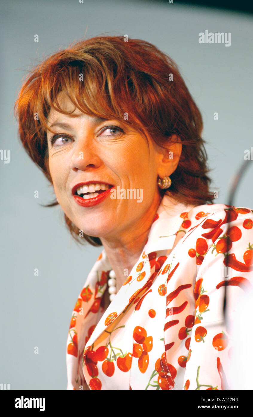 Kathy Lette Australian author pictured at Hay Festival 2007 Hay on Wye Powys Wales UK - Stock Image