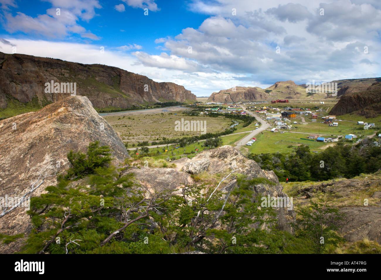 El Chalten village within Los Glaciares National Park, Argentina - Stock Image