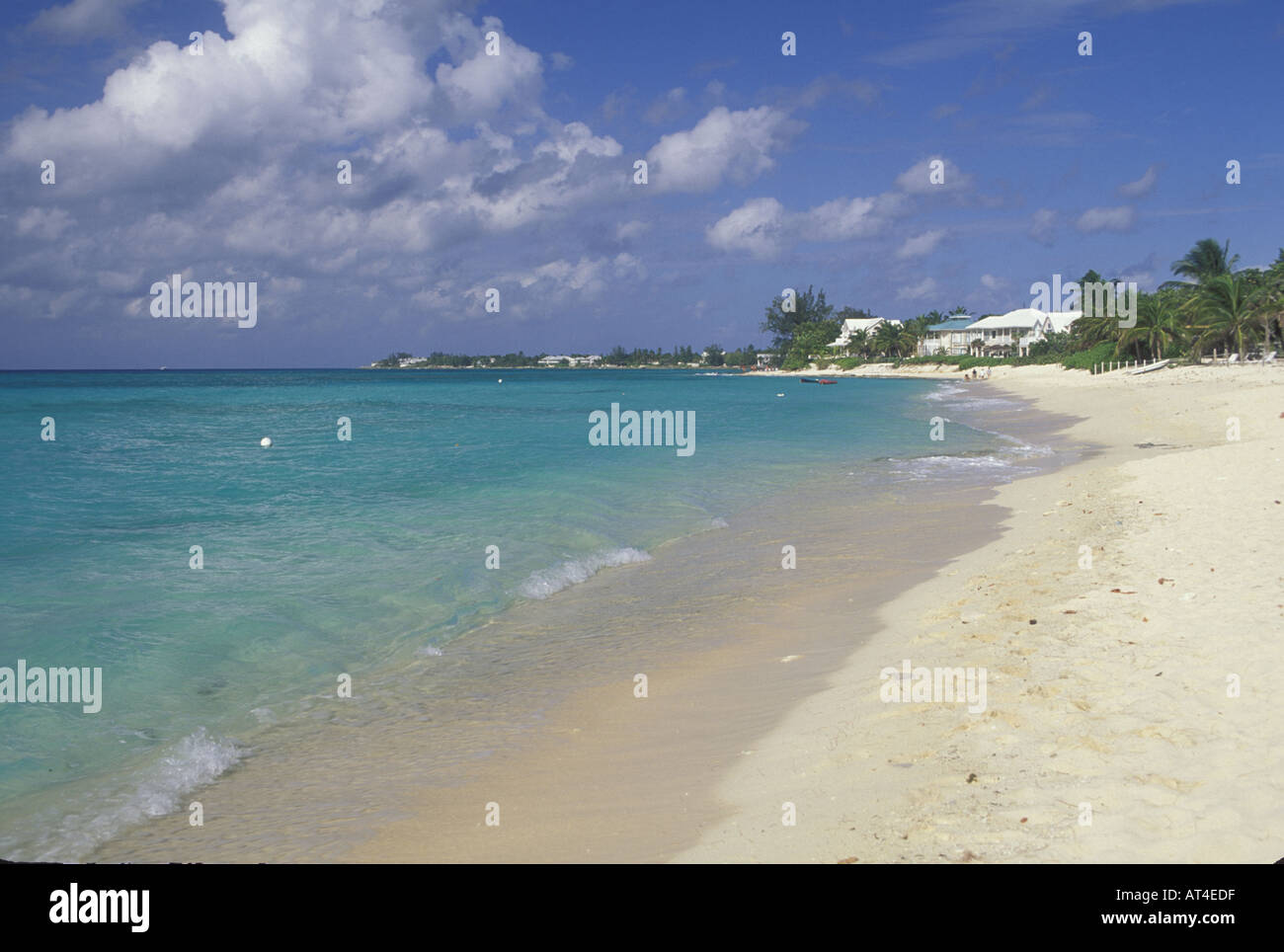 7 mile beach Caribbean sea Grand Cayman Cayman Islands - Stock Image