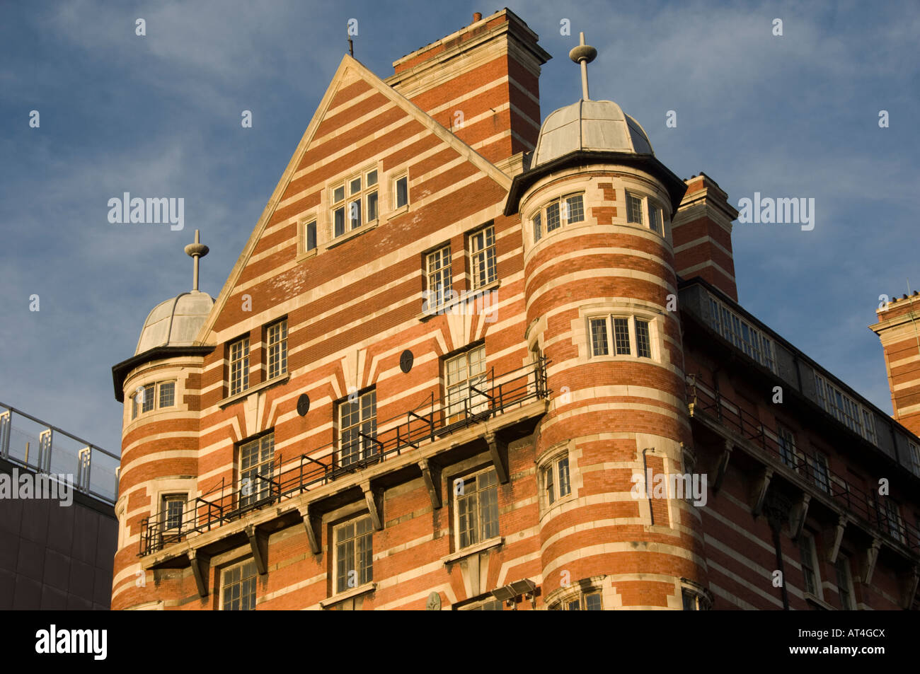 The former offices of the White Star line Liverpool Uk Italianate brick building - where the sinking of Titanic - Stock Image