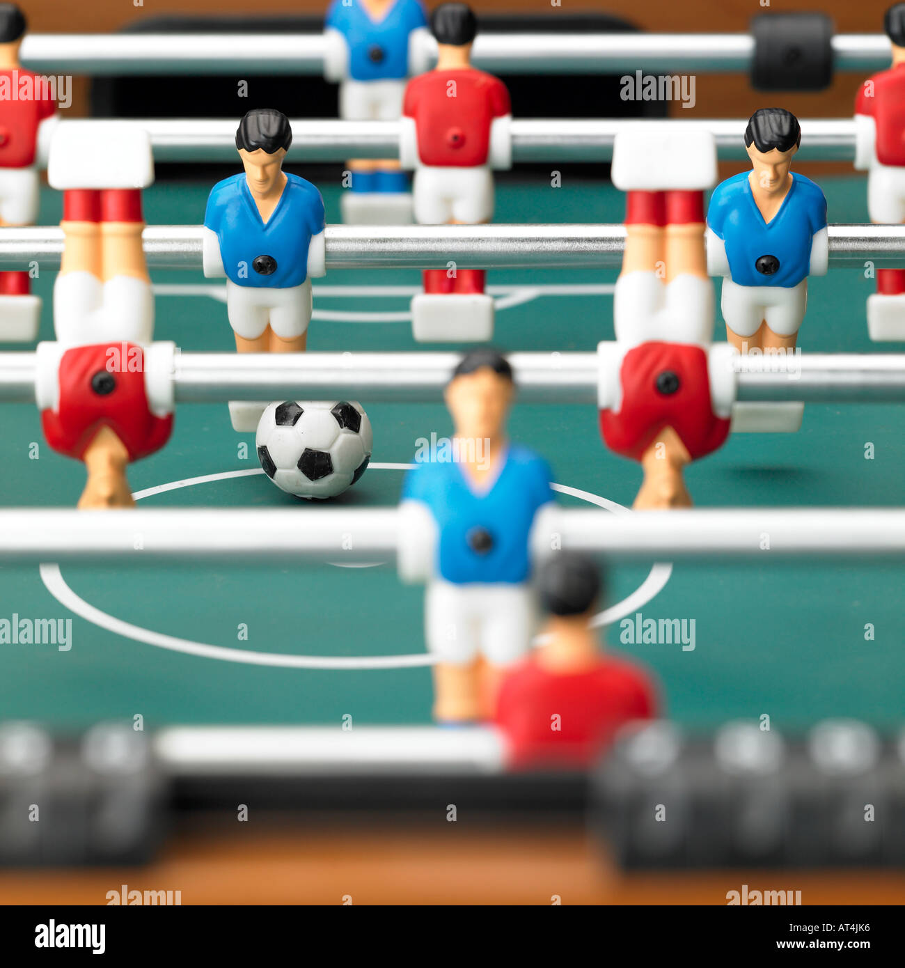 table football game with players on their heads foosball - Stock Image