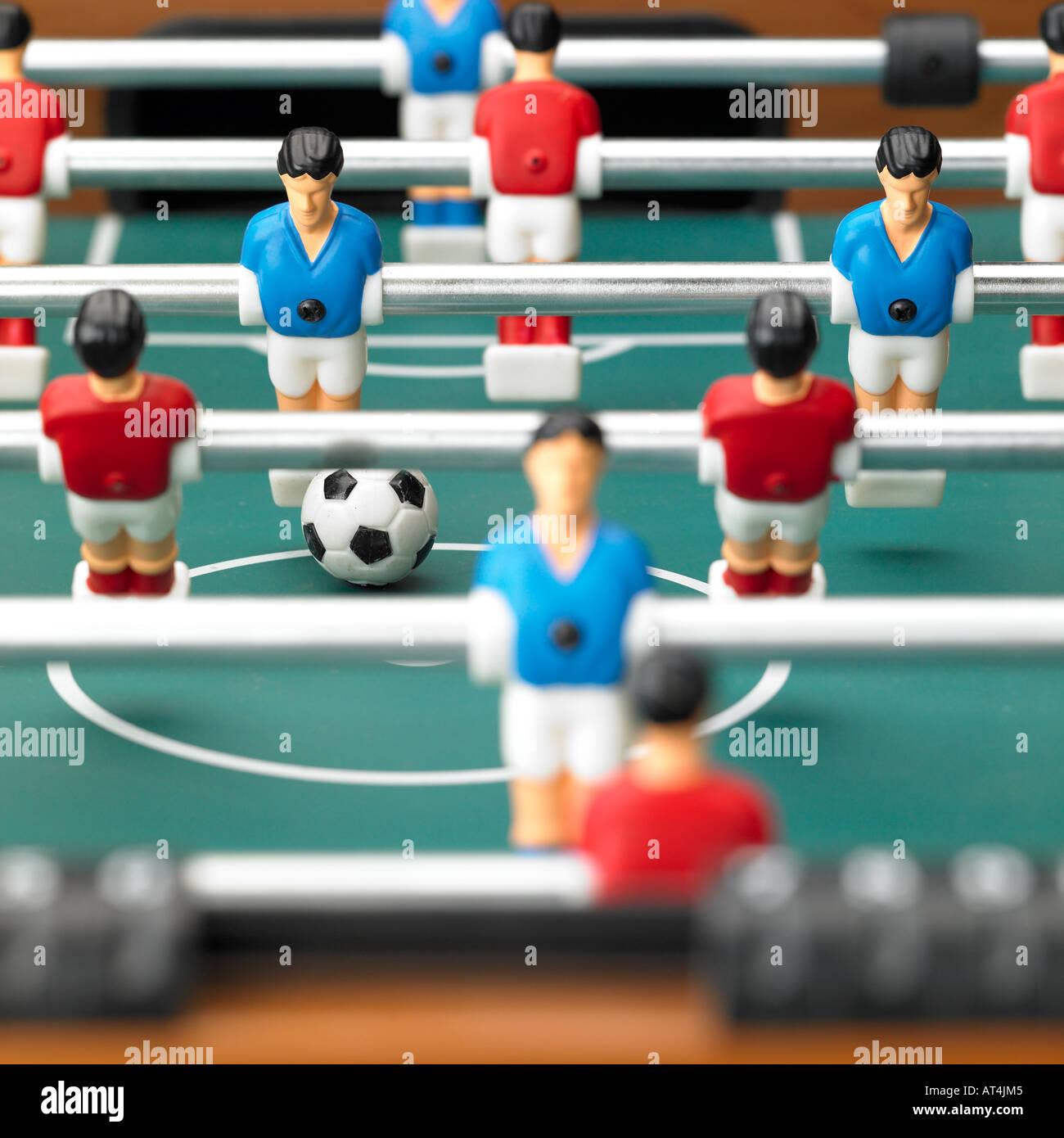 table football game foosball - Stock Image