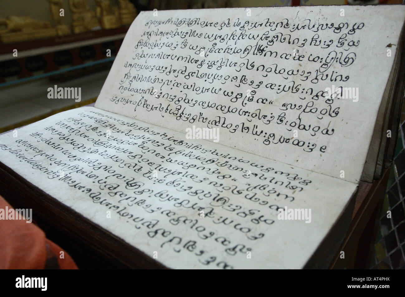 Thailand Mae Hong Son Burmese Buddhist scripture - Stock Image