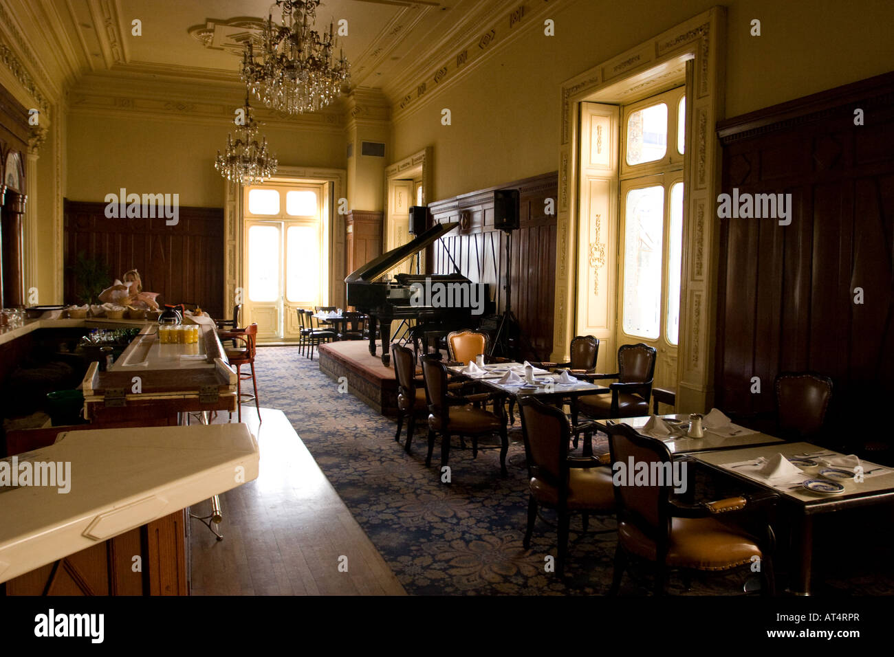 Interior of 'Casa de los Azulejos' (House of tiles) in Mexico City, owned by the Sanborn´s store-restaurant - Stock Image
