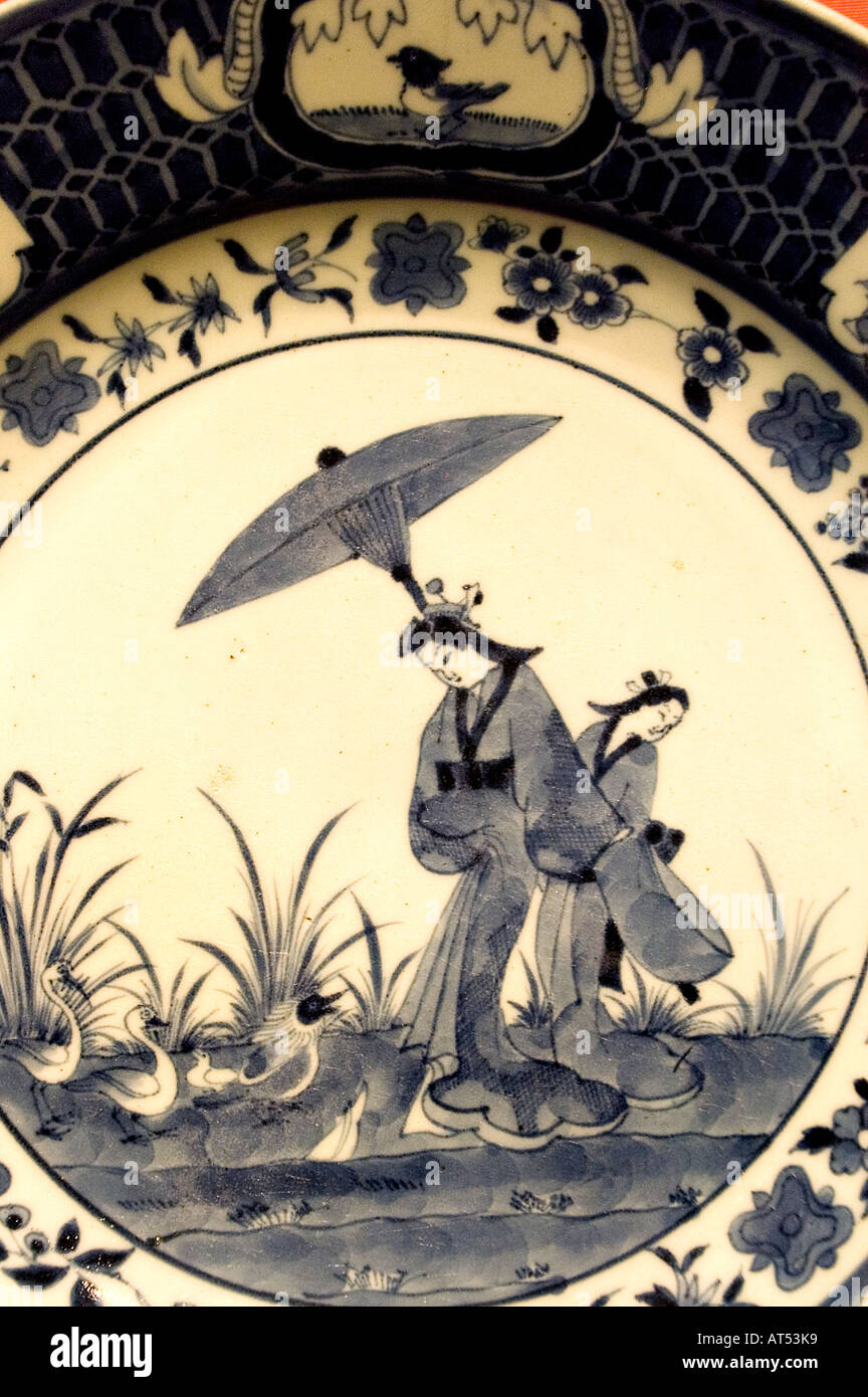 Fries Museum Leeuwarden Netherlands Friesland Fryslan porcelain paintings china - Stock Image