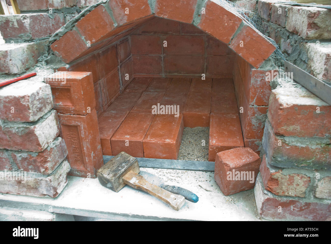Detail Of The Fire Vault In Building An Outdoor Wood Fired Oven