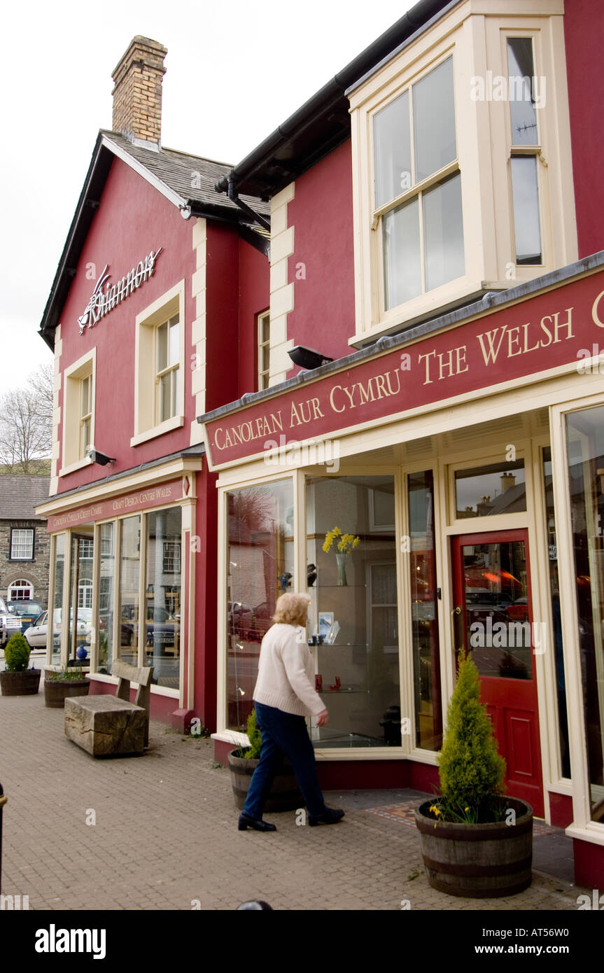 exterior of the rhiannon gold centre and crafts shop  tregaron ceredigion mid wales UK Stock Photo