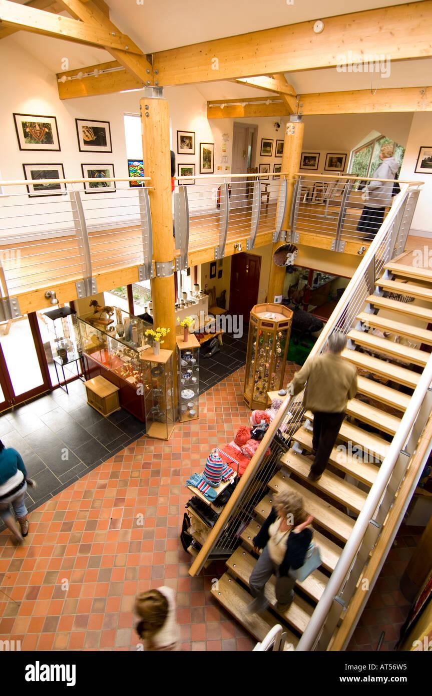 rhiannon gold centre interior tregaron ceredigion mid wales april 2006 Stock Photo