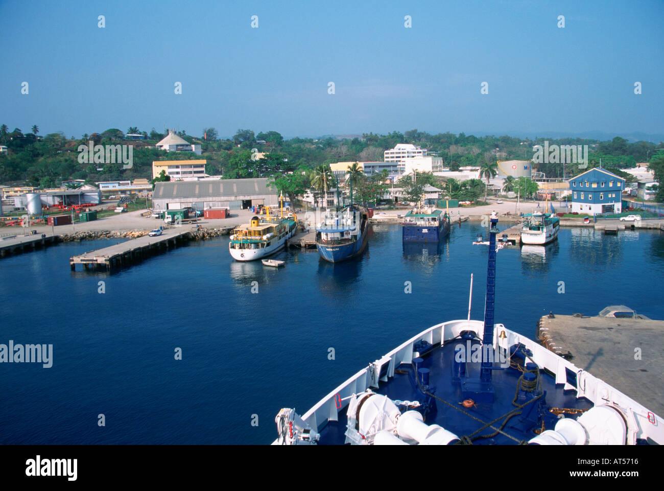 Honiara Guadacanal Solomon Islands - Stock Image