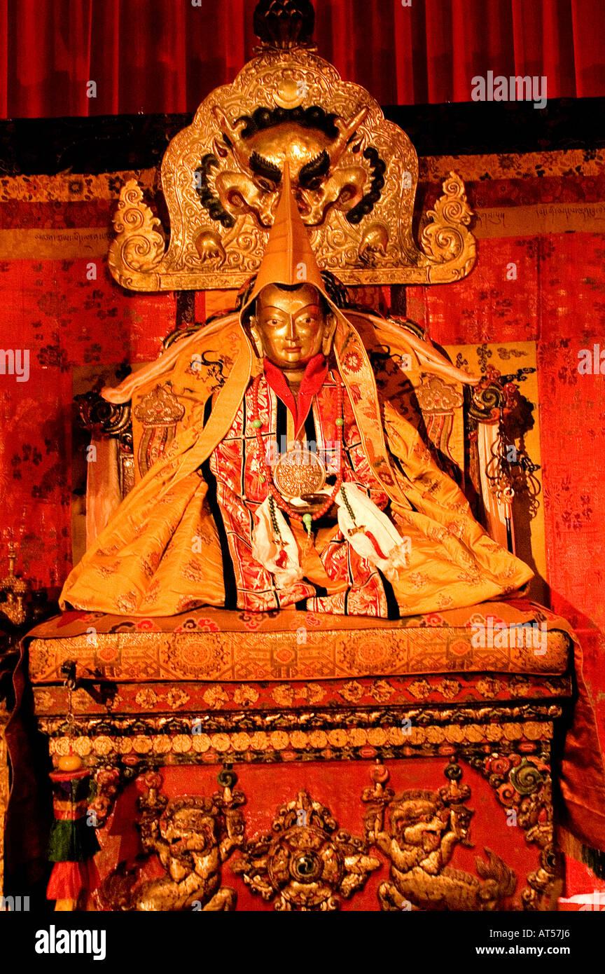 Tenzin Gyatso Tibet and the14 Dalai Lama's Lama - Stock Image