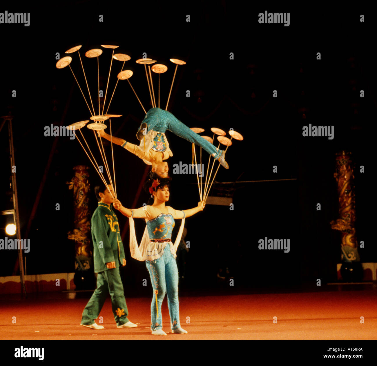 Chinese State Circus Acrobats feats China - Stock Image