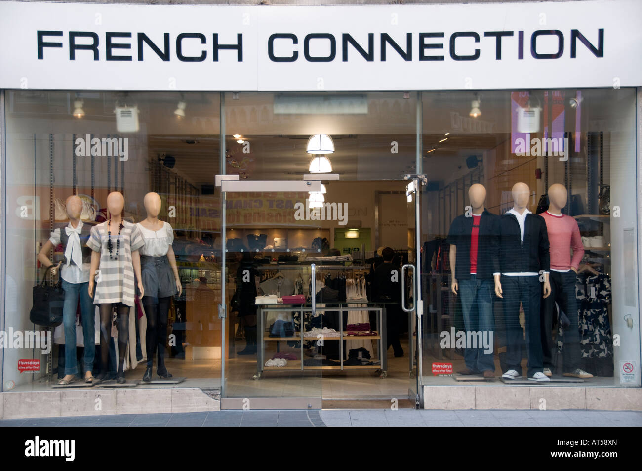 ff1ab3ff43c French Connection shop Liverpool city centre UK - clothes clothing fashion  store shop window