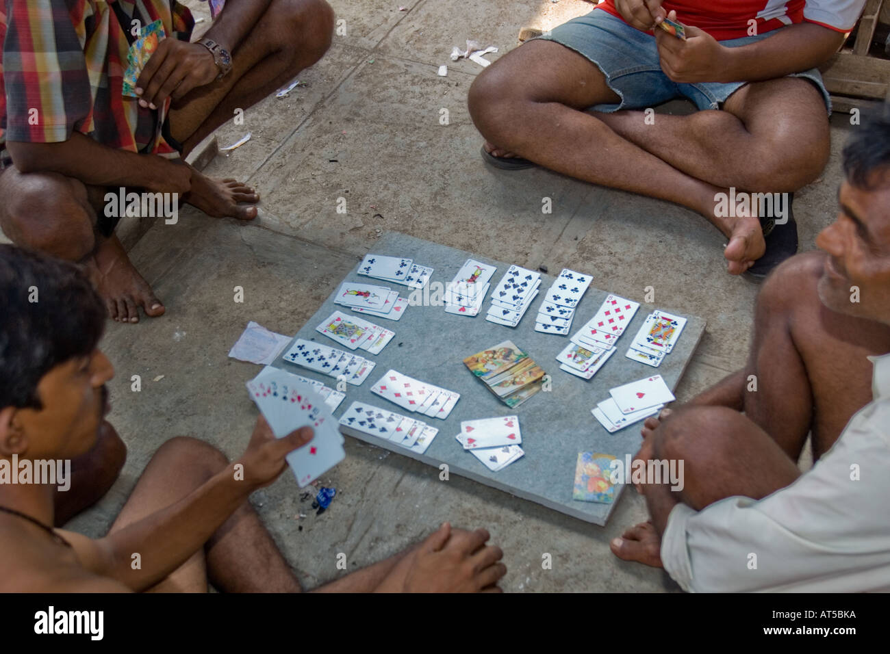 Illegal Gambling On The Streets India Stock Photo Alamy