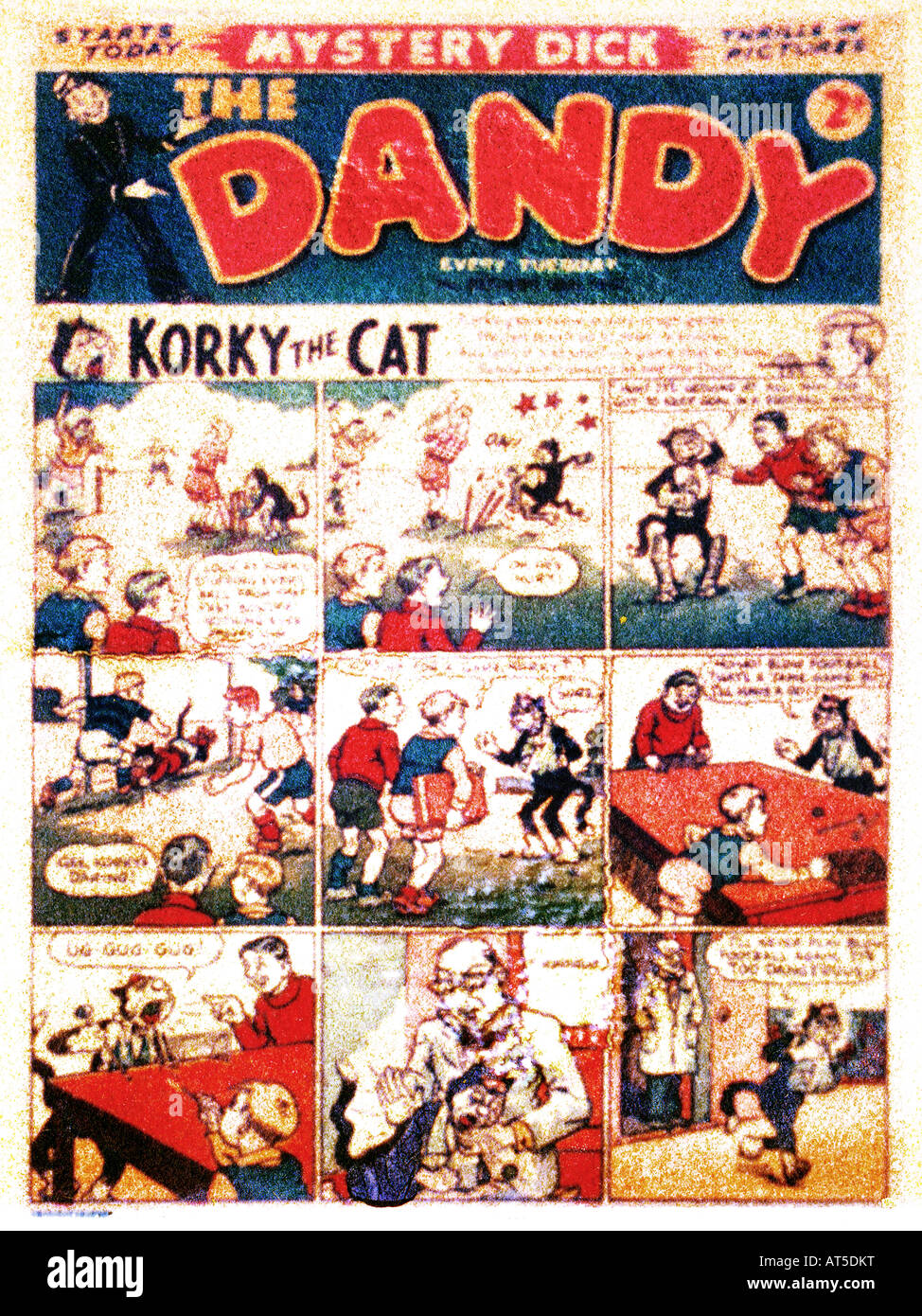 Polaroid Transfer image of  Dandy Children's Comic  1957 FOR EDITORIAL USE ONLY - Stock Image