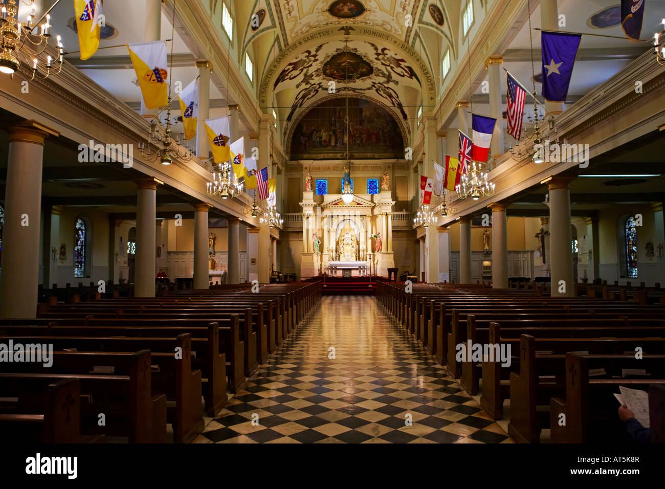 inside st louis cathedral new orleans louisiana usa stock photo