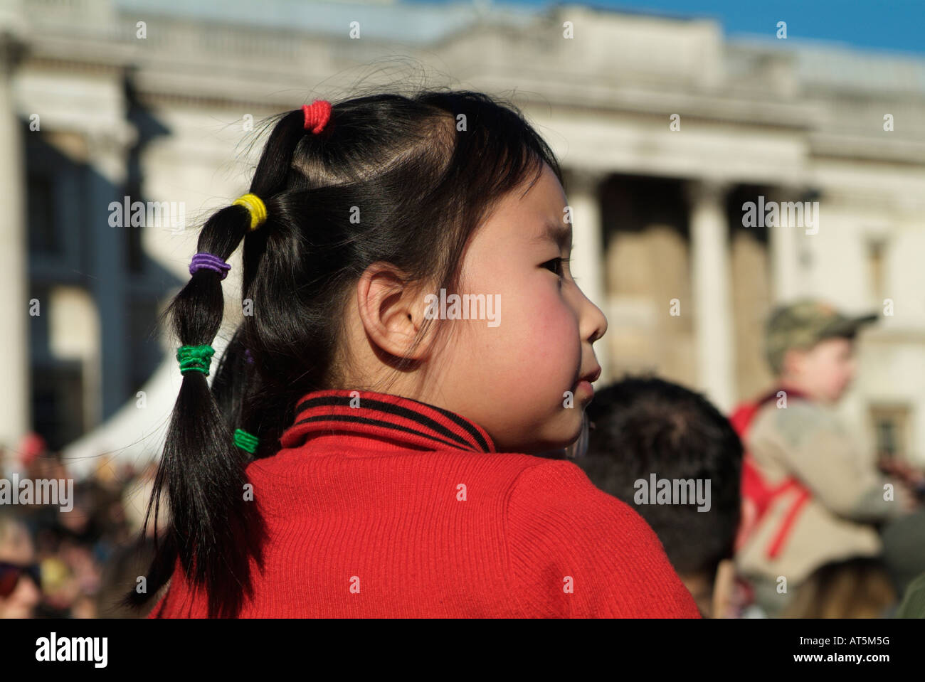 Little Chinese Girl At Chinese New Year 2008 At The Trafalgar Square Stock Photo Alamy